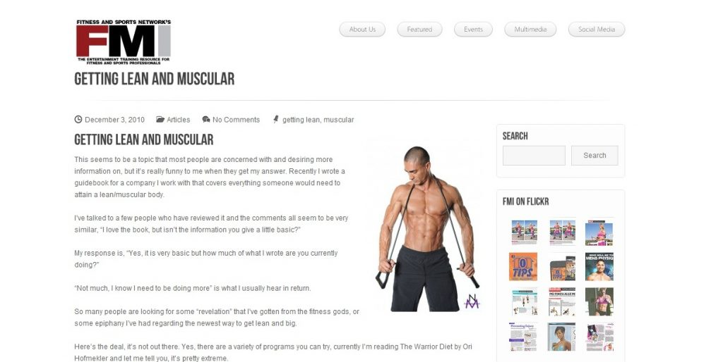 Fitness Model Andre Davids
