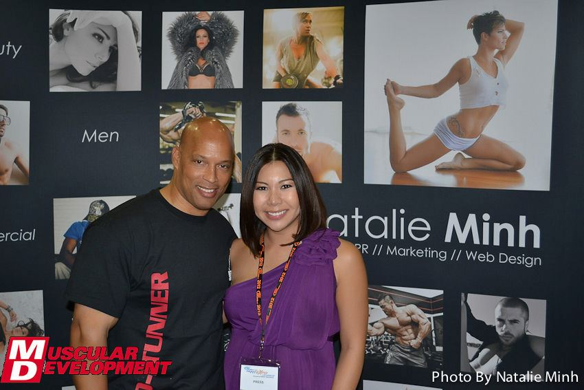 Fitness Photographer Natalie Minh with IFBB Hall of Famer Shawn Ray