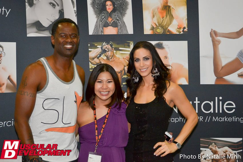 Fitness Photographer Natalie Minh with Legendary R&B Singer Brian McKnight and Model Universe Champion Melissa Cary.
