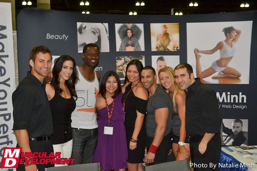 From Left: Dave Dreas, Model Universe Champion Melissa Cary, Legendary R&B Singer Brian Mcknight, Natalie Minh, Mitchie De Leon, Mehmet Edip, Jaime Michelle.