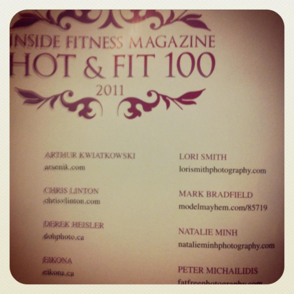OFFICIAL Inside Fitness Magazine Hot & Fit 100 Photographer List