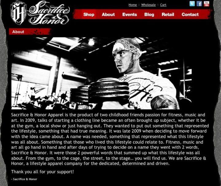 Sacrifice & Honor Website
