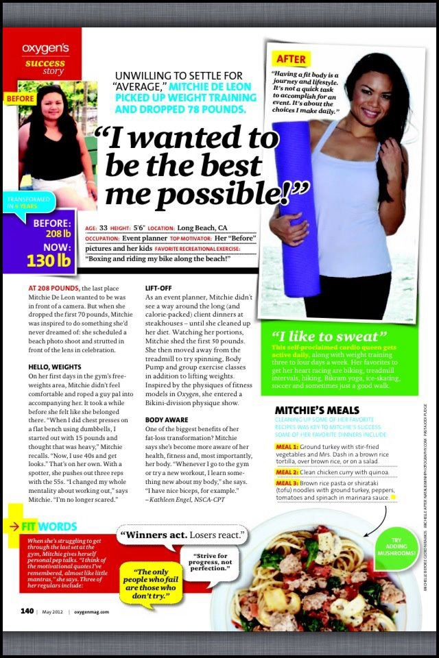 Fitness Model Mitchie De Leon Oxygen Magazine Feature