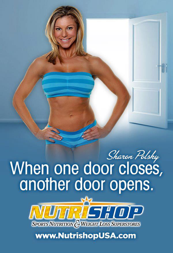 WBFF Pro Sharon Polsky. Nutrishop Ad Campaign