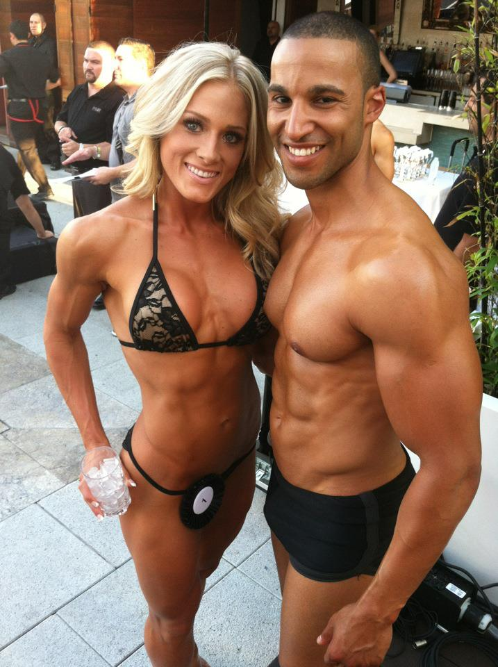 Alexa Trafalis, Overall Female Fitness Model Winner and Mehmet Edip Overall Male Fashion Model Winner