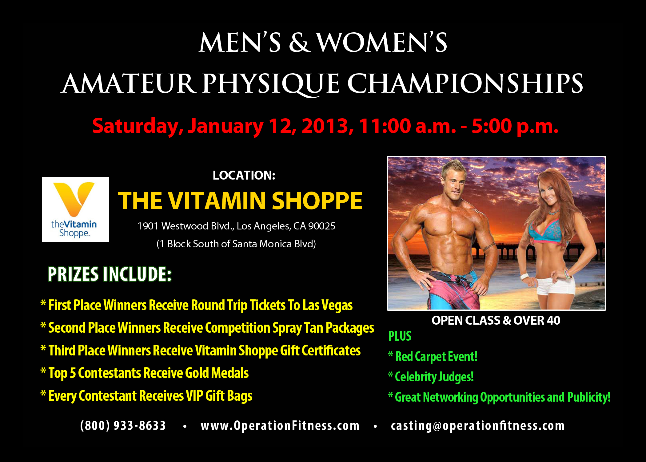 Men's and Women's Amateur Physique Championships