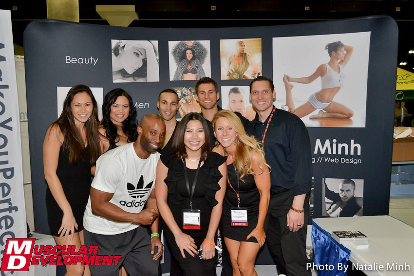 Natalie Minh Booth at LA Fit Expo 2012