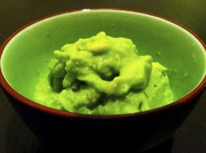 Pineapple green tea protein ice cream.