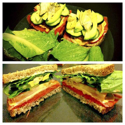 Organic Smoked Salmon Sandwich.