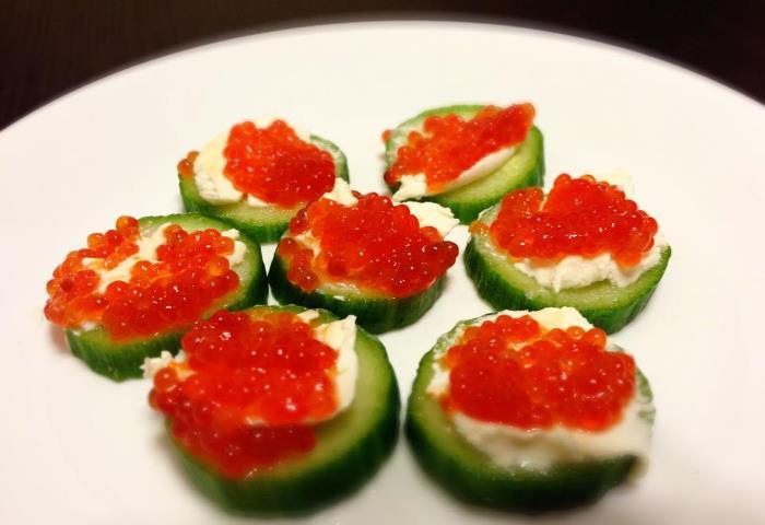 Caviar Paleo snacks