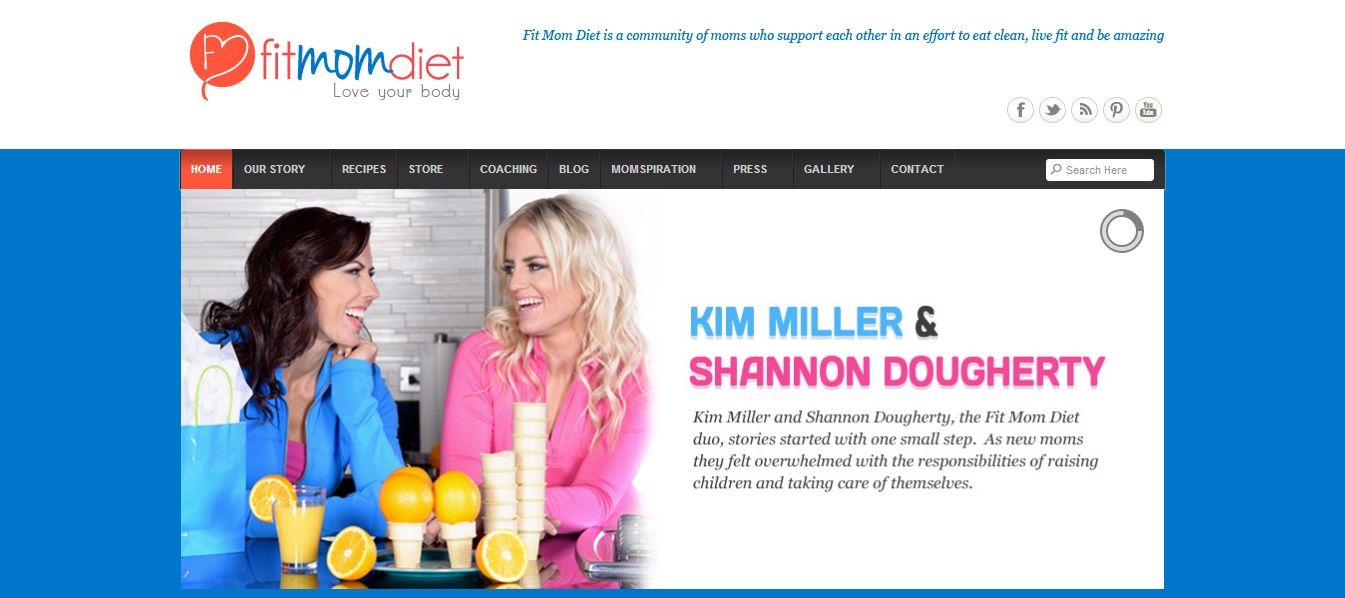 fit mom diet website