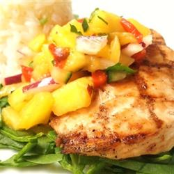 Grilled Mahi with Mango Salsa