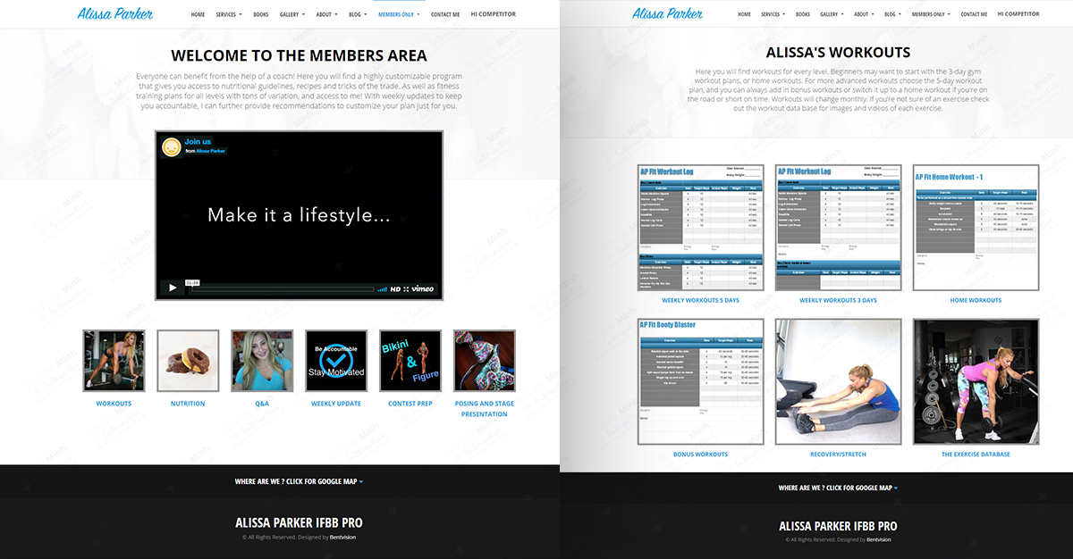 Alissa Parker Website Design